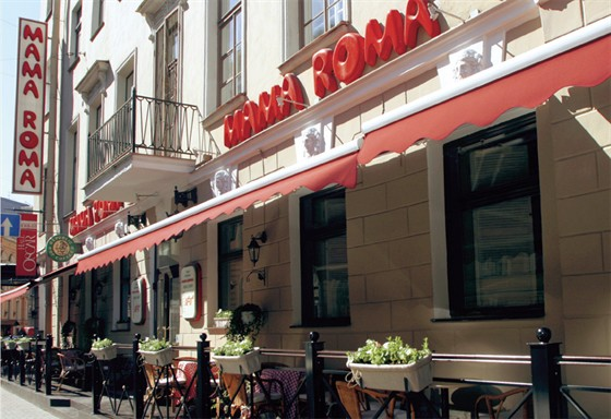 ...Ресторан Мама Рома - ул. Караванная, 3/35 Санкт-Петербург, Россия.